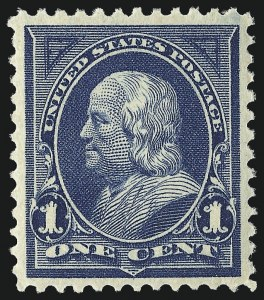 Sale Number 967, Lot Number 4433, 1895 Watermarked Bureau Issue (Scott 264-278)1c Blue (264), 1c Blue (264)