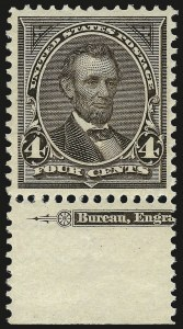 Sale Number 967, Lot Number 4434, 1895 Watermarked Bureau Issue (Scott 264-278)4c Dark Brown (269), 4c Dark Brown (269)