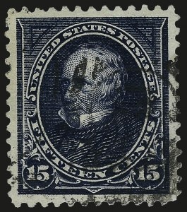 Sale Number 967, Lot Number 4445, 1895 Watermarked Bureau Issue (Scott 264-278)15c Dark Blue (274), 15c Dark Blue (274)