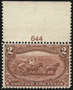 Sale Number 967, Lot Number 4467, 1898 Trans-Mississippi Issue (Scott 285-293)2c Trans-Mississippi (286), 2c Trans-Mississippi (286)