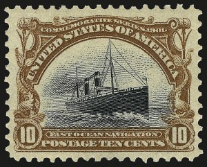 Sale Number 967, Lot Number 4503, 1901 Pan-American Issue (Scott 294-299)10c Pan-American (299), 10c Pan-American (299)