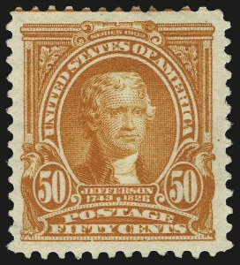 Sale Number 967, Lot Number 4510, 1902-08 Issues (Scott 300-322)50c Orange (310), 50c Orange (310)