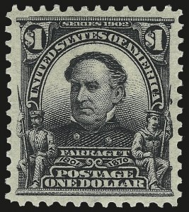 Sale Number 967, Lot Number 4512, 1902-08 Issues (Scott 300-322)$1.00 Black (311), $1.00 Black (311)