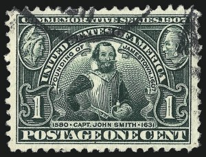 Sale Number 967, Lot Number 4529, 1904 Louisiana Purchase, Jamestown Issues (Scott 323-330)1c Jamestown (328), 1c Jamestown (328)