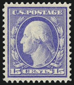 Sale Number 967, Lot Number 4718, 1910-13 Washington-Franklin Issue (Scott 374-396)15c Pale Ultramarine (382), 15c Pale Ultramarine (382)