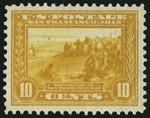Sale Number 967, Lot Number 4727, 1913-15 Panama-Pacific Issue (Scott 397-404)10c Orange Yellow, Panama-Pacific (400), 10c Orange Yellow, Panama-Pacific (400)