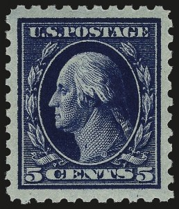 Sale Number 967, Lot Number 4759, 1913-15 Washington-Franklin Issues (Scott 424-461)5c Dark Blue (428), 5c Dark Blue (428)