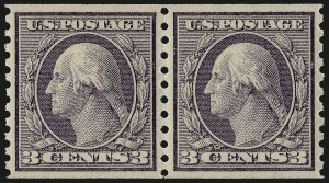Sale Number 967, Lot Number 4801, 1913-15 Washington-Franklin Issues (Scott 424-461)3c Violet, Coil (456), 3c Violet, Coil (456)