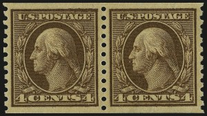 Sale Number 967, Lot Number 4803, 1913-15 Washington-Franklin Issues (Scott 424-461)4c Brown, Coil (457), 4c Brown, Coil (457)