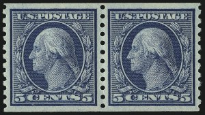 Sale Number 967, Lot Number 4804, 1913-15 Washington-Franklin Issues (Scott 424-461)5c Blue, Coil (458), 5c Blue, Coil (458)