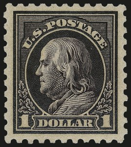 Sale Number 967, Lot Number 4809, 1913-15 Washington-Franklin Issues (Scott 424-461)$1.00 Violet Black (460), $1.00 Violet Black (460)