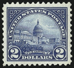 Sale Number 967, Lot Number 4952, 1922-29 Issues (Scott 551-573)$2.00 Deep Blue (572), $2.00 Deep Blue (572)