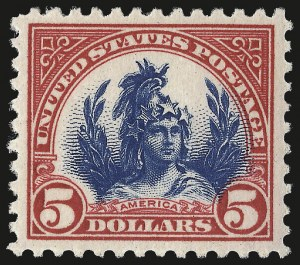 Sale Number 967, Lot Number 4954, 1922-29 Issues (Scott 551-573)$5.00 Carmine & Blue (573), $5.00 Carmine & Blue (573)