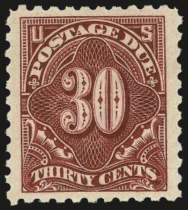 Sale Number 967, Lot Number 5117, Postage Due (J)30c Carmine Lake (J57), 30c Carmine Lake (J57)