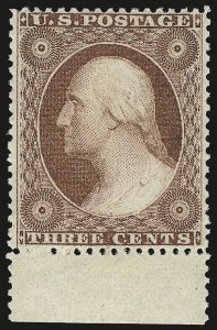 Sale Number 968, Lot Number 32, 1857-60 Issue (Scott 18-39)3c Dull Red, Ty. III (26). Mint N.H, 3c Dull Red, Ty. III (26). Mint N.H