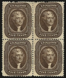 Sale Number 968, Lot Number 43, 1857-60 Issue (Scott 18-39)5c Brown, Ty. II (30A), 5c Brown, Ty. II (30A)