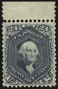 Sale Number 968, Lot Number 88, 1861-66 Issue (Scott 63-72)24c Steel Blue (70b), 24c Steel Blue (70b)