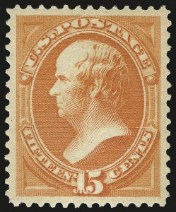 Sale Number 968A, Lot Number 224, 1879 American Bank Note Co. Issue (Scott 182-191)15c Red Orange (189), 15c Red Orange (189)