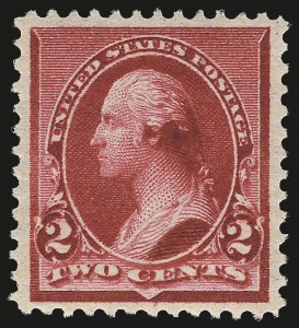 "Sale Number 968A, Lot Number 263, 1890-93 Issue (Scott 219-229)2c Carmine, Cap on Both ""2""'s (220c), 2c Carmine, Cap on Both ""2""'s (220c)"