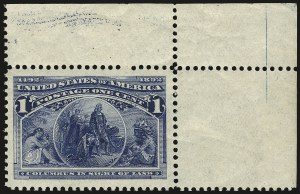 Sale Number 968A, Lot Number 274, 1893 Columbian Issue (Scott 230-245)1c Columbian (230), 1c Columbian (230)