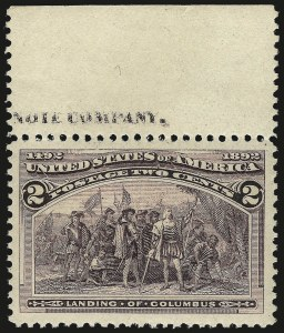 Sale Number 968A, Lot Number 275, 1893 Columbian Issue (Scott 230-245)2c Columbian (231), 2c Columbian (231)