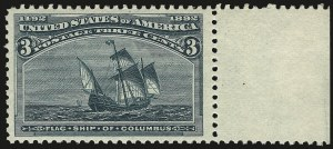 Sale Number 968A, Lot Number 277, 1893 Columbian Issue (Scott 230-245)3c Columbian (232), 3c Columbian (232)