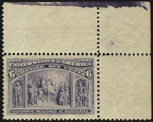 Sale Number 968A, Lot Number 282, 1893 Columbian Issue (Scott 230-245)6c Columbian (235), 6c Columbian (235)