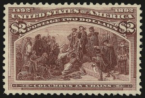 Sale Number 968A, Lot Number 290, 1893 Columbian Issue (Scott 230-245)$2.00 Columbian (242), $2.00 Columbian (242)