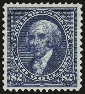 Sale Number 968A, Lot Number 313, 1894 Unwatermarked Bureau Issue (Scott 246-263)$2.00 Bright Blue (262), $2.00 Bright Blue (262)
