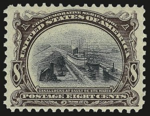 Sale Number 968A, Lot Number 362, 1901 Pan-American Issue (Scott 294-299)8c Pan-American (298), 8c Pan-American (298)