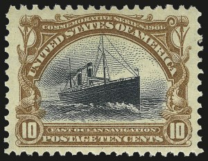 Sale Number 968A, Lot Number 363, 1901 Pan-American Issue (Scott 294-299)10c Pan-American (299), 10c Pan-American (299)