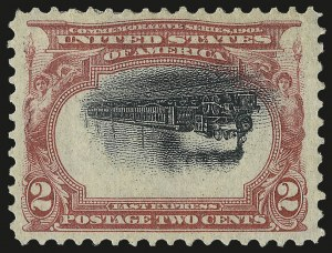 Sale Number 968A, Lot Number 365, 1901 Pan-American Issue Invert Singles (Scott 294a, 295a, 296)2c Pan-American, Center Inverted (295a), 2c Pan-American, Center Inverted (295a)
