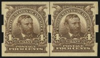 Sale Number 968B, Lot Number 388, 4c Brown, Imperforate, Schermack Ty. III Private Perforation (314A)