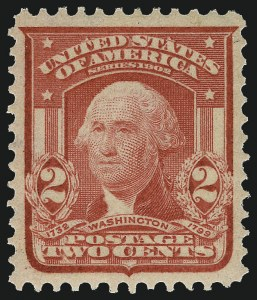 Sale Number 968B, Lot Number 402, 1902-08 Issue (Scott 319-322)2c Carmine Rose, Ty. I (319b), 2c Carmine Rose, Ty. I (319b)