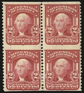Sale Number 968B, Lot Number 405, 1902-08 Issue (Scott 319-322)2c Carmine, Ty. I, Vertical Pair, Imperforate Horizontally (319d), 2c Carmine, Ty. I, Vertical Pair, Imperforate Horizontally (319d)