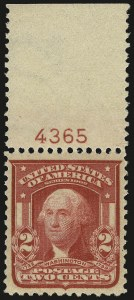Sale Number 968B, Lot Number 408, 1902-08 Issue (Scott 319-322)2c Carmine, Ty. II (319i), 2c Carmine, Ty. II (319i)