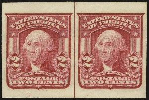 Sale Number 968B, Lot Number 410, 1902-08 Issue (Scott 319-322)2c Carmine, Ty. I, Imperforate (320), 2c Carmine, Ty. I, Imperforate (320)