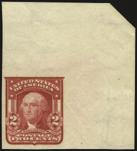 Sale Number 968B, Lot Number 411, 1902-08 Issue (Scott 319-322)2c Carmine, Ty. I, Imperforate (320), 2c Carmine, Ty. I, Imperforate (320)