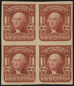 Sale Number 968B, Lot Number 412, 1902-08 Issue (Scott 319-322)2c Carmine, Ty. I, Imperforate (320), 2c Carmine, Ty. I, Imperforate (320)