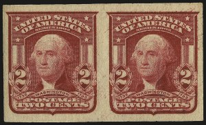 Sale Number 968B, Lot Number 414, 1902-08 Issue (Scott 319-322)2c Lake, Ty. II, Imperforate (320a), 2c Lake, Ty. II, Imperforate (320a)