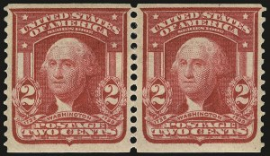 Sale Number 968B, Lot Number 415, 1902-08 Issue (Scott 319-322)2c Carmine, Coil (322), 2c Carmine, Coil (322)