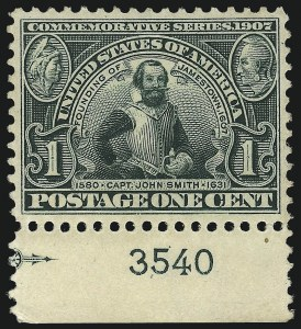 Sale Number 968B, Lot Number 423, 1904 Louisiana Purchase, Jamestown Issues (Scott 323-330)1c Jamestown (328), 1c Jamestown (328)