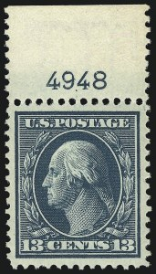 Sale Number 968B, Lot Number 431, 1908-10 Washington-Franklin Issues (Scott 331-356)13c Blue Green (339), 13c Blue Green (339)
