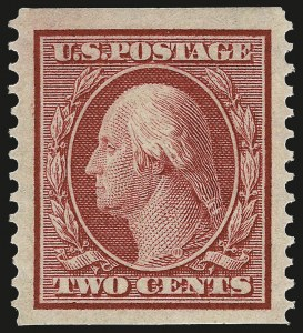 Sale Number 968B, Lot Number 454, 1908-10 Washington-Franklin Issues (Scott 331-356)2c Carmine, Coil (353), 2c Carmine, Coil (353)