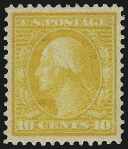 Sale Number 968B, Lot Number 470, 1909 Bluish Paper Issue (Scott 357-366)10c Yellow, Bluish (364), 10c Yellow, Bluish (364)