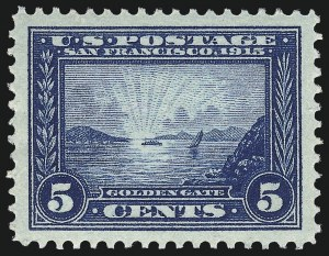 Sale Number 968B, Lot Number 515, 1913-15 Panama-Pacific Issue (Scott 397-404)5c Panama-Pacific (399), 5c Panama-Pacific (399)
