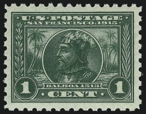 Sale Number 968B, Lot Number 518, 1913-15 Panama-Pacific Issue (Scott 397-404)1c Panama-Pacific, Perf 10 (401), 1c Panama-Pacific, Perf 10 (401)
