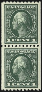 Sale Number 968B, Lot Number 559, 1913-15 Washington-Franklin Issues (Scott 424-460)1c Green, Coil (441), 1c Green, Coil (441)