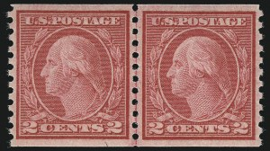 Sale Number 968B, Lot Number 639, 1916-17 Issues (Scott 485-497)2c Carmine, Ty. III, Coil (492), 2c Carmine, Ty. III, Coil (492)