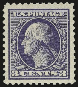 Sale Number 968B, Lot Number 696, 1918-20 Offset Printing Issues (Scott 525-536)3c Violet, Ty. III (529), 3c Violet, Ty. III (529)